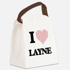 I Love Layne (Heart Made from Lov Canvas Lunch Bag