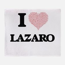 I Love Lazaro (Heart Made from Love Throw Blanket