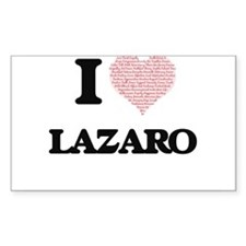 I Love Lazaro (Heart Made from Love words) Decal