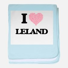 I Love Leland (Heart Made from Love w baby blanket