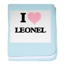 I Love Leonel (Heart Made from Love w baby blanket