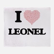 I Love Leonel (Heart Made from Love Throw Blanket