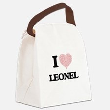 I Love Leonel (Heart Made from Lo Canvas Lunch Bag