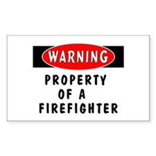 Property of a Firefighter Rectangle Decal