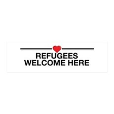 Refugees Welcome Here Wall Decal
