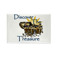 Discover the Treasure Rectangle Magnet (100 pack)