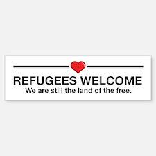 Refugees Welcome Bumper Bumper Bumper Sticker Bumper Bumper Bumper Sticker