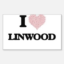 I Love Linwood (Heart Made from Love words Decal