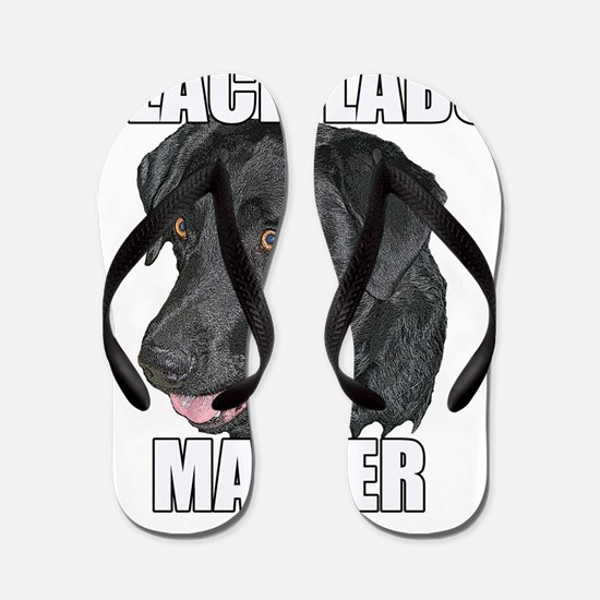Unique Black lab Flip Flops