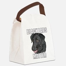 Black Labs Matter Two Canvas Lunch Bag