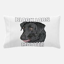 Black Labs Matter Two Pillow Case