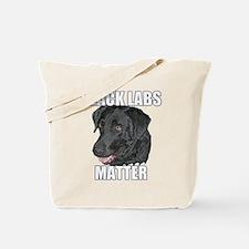 Black Labs Matter Two Tote Bag