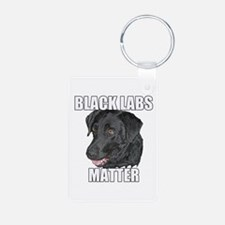 Black Labs Matter Two Keychains