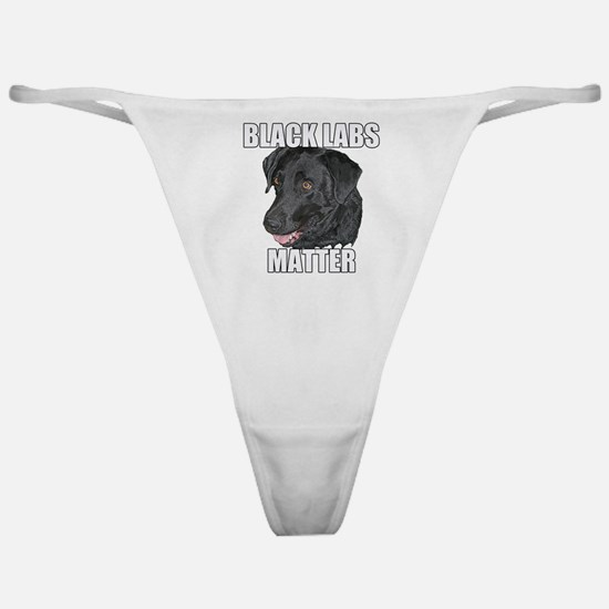 Black Labs Matter Two Classic Thong