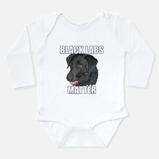 Black Labs Matter Two Long Sleeve Infant Bodysuit