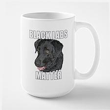 Black Labs Matter Two Large Mug