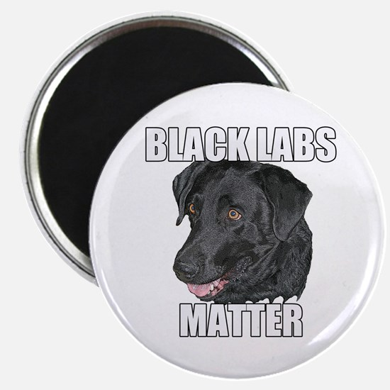 Black Labs Matter Two Magnet