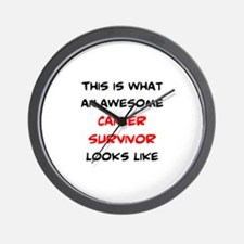 awesome cancer survivor Wall Clock