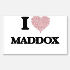 I Love Maddox (Heart Made from Love words) Decal