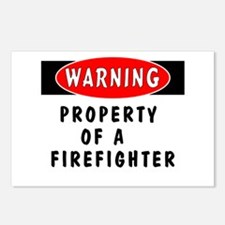 Property of a Firefighter Postcards (Package of 8)