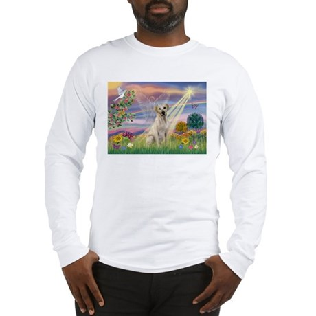 Cloud Angel & Yellow Lab Long Sleeve T-Shirt