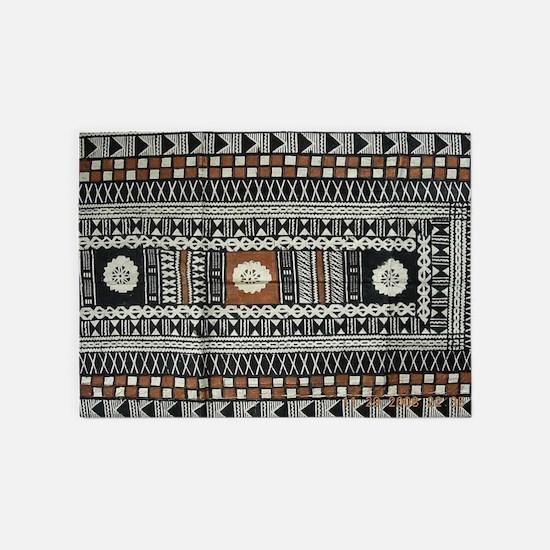Tribal Masi Tapa Cloth Print 5'x7'Area Rug