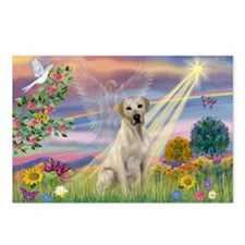 Cloud Angel & Yellow Lab Postcards (Package of 8)