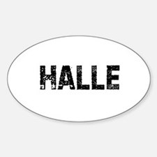 Halle Oval Decal