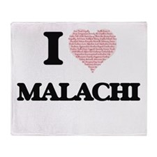 I Love Malachi (Heart Made from Love Throw Blanket