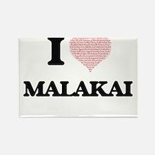 I Love Malakai (Heart Made from Love words Magnets
