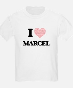I Love Marcel (Heart Made from Love words) T-Shirt