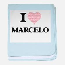 I Love Marcelo (Heart Made from Love baby blanket