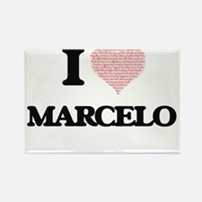 I Love Marcelo (Heart Made from Love words Magnets