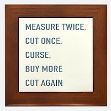 Measure Twice Framed Tile