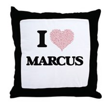 I Love Marcus (Heart Made from Love w Throw Pillow