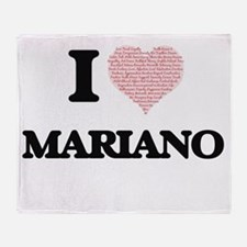 I Love Mariano (Heart Made from Love Throw Blanket