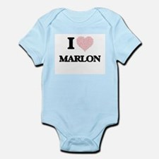 I Love Marlon (Heart Made from Love word Body Suit