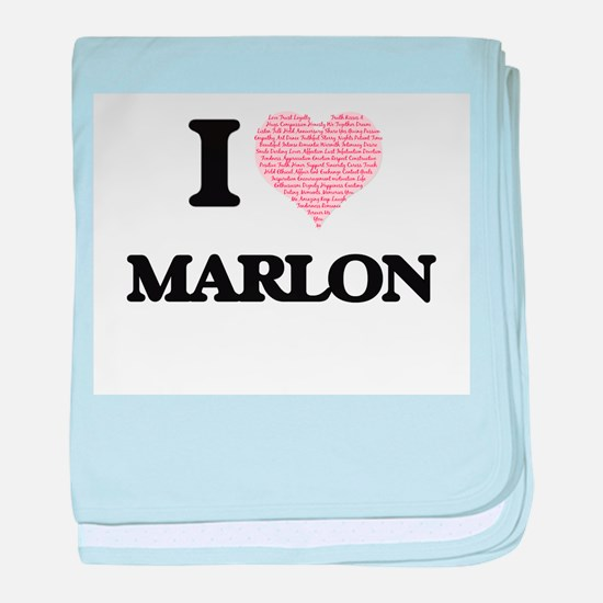 I Love Marlon (Heart Made from Love w baby blanket