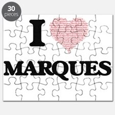I Love Marques (Heart Made from Love words) Puzzle