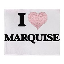 I Love Marquise (Heart Made from Lov Throw Blanket