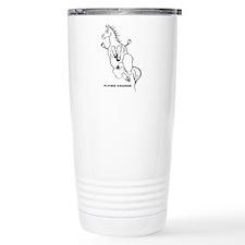 Unique Dressage horse Travel Mug