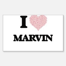 I Love Marvin (Heart Made from Love words) Decal
