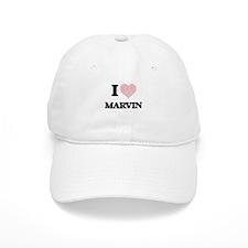 I Love Marvin (Heart Made from Love words) Baseball Baseball Cap