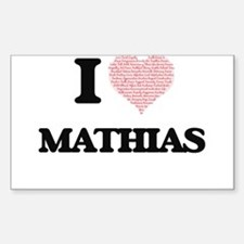 I Love Mathias (Heart Made from Love words Decal