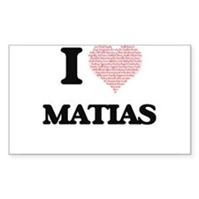 I Love Matias (Heart Made from Love words) Decal
