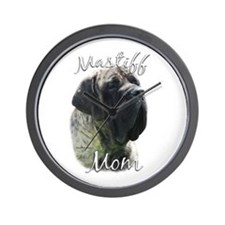 Mastiff(brindle)Mom2 Wall Clock