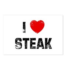 I * Steak Postcards (Package of 8)