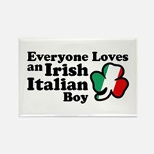 Everyone Loves an Irish Italian Boy Rectangle Magn