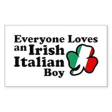 Everyone Loves an Irish Italian Boy Decal