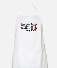 Everyone Loves an Irish Italian Boy BBQ Apron